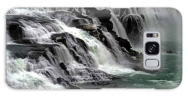 Galaxy Case featuring the photograph Gullfoss Waterfalls, Iceland by Dubi Roman
