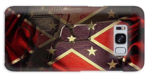 Guns Galaxy Case - Gun And Confederate Flag by Les Cunliffe