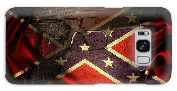 Gun And Confederate Flag Galaxy Case