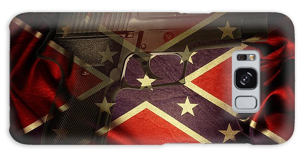 Gun And Flag Galaxy Case