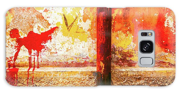 Galaxy Case featuring the photograph Gutter And Decayed Wall by Silvia Ganora