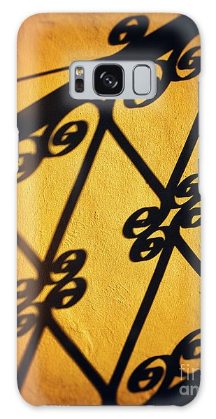 Galaxy Case featuring the photograph Gutter And Ornate Shadows by Silvia Ganora