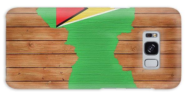 Traveler Galaxy Case - Guyana Rustic Map On Wood by Dan Sproul