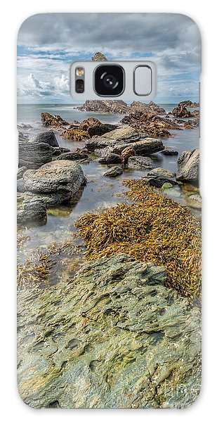 Sea Stacks Galaxy Case - Gwenfaens Rock by Adrian Evans