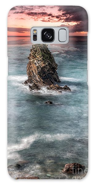 Sea Stacks Galaxy Case - Gwenfaens Sunset by Adrian Evans