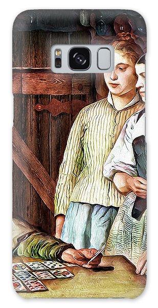 Galaxy Case featuring the digital art Gypsy Card Reader by Pennie McCracken
