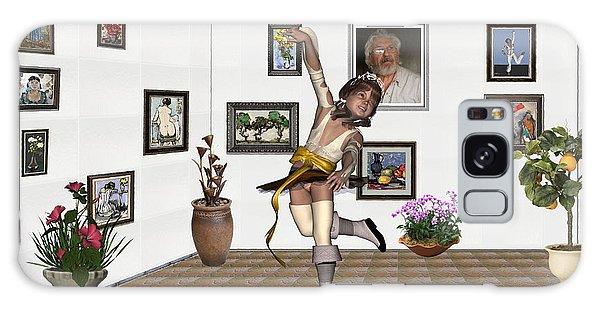 Digital Exhibartition _  Dancing Girl  Galaxy Case by Pemaro