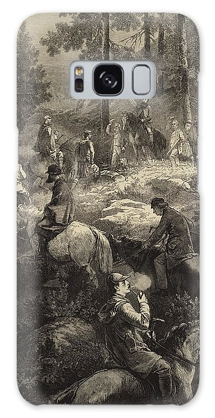 Engraving Galaxy Case - H R H The Prince Of Wales Deer Stalking  by Mihaly von Zichy