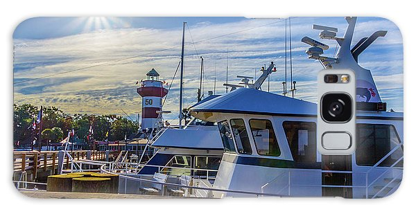 Habour Town Lighthouse And Marina Galaxy Case