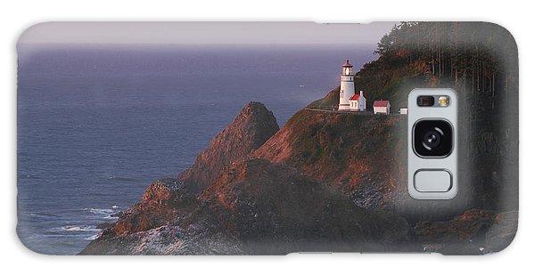 Haceta Head Lighthouse At Sunset Galaxy Case