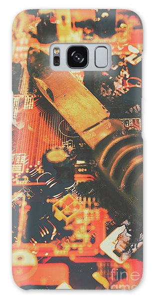 Wasted Galaxy Case - Hacking Knife On Circuit Board by Jorgo Photography - Wall Art Gallery