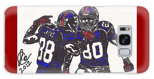 Hakeem Nicks And Victor Cruz Galaxy Case by Jeremiah Colley
