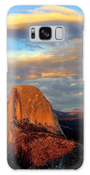 Half Dome Sunset Colorful Clouds Vertical Galaxy Case