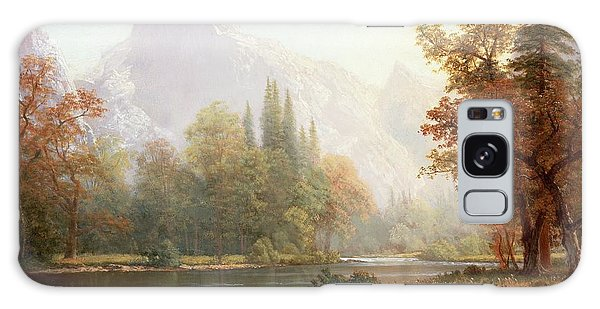 Half Dome Yosemite Galaxy Case by Albert Bierstadt