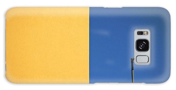 Colorful Galaxy Case - Half Yellow Half Blue by Silvia Ganora