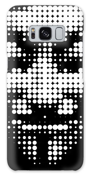 Halftone Anonymous Face  Galaxy Case