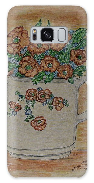 Hall China Orange Poppy And Poppies Galaxy Case