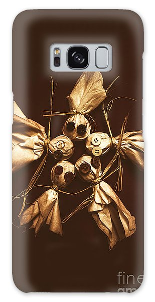 Made Galaxy Case - Halloween Horror Dolls On Dark Background by Jorgo Photography - Wall Art Gallery