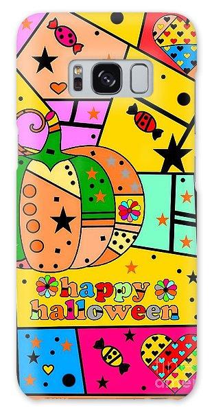 Halloween Popart By Nico Bielow Galaxy Case by Nico Bielow