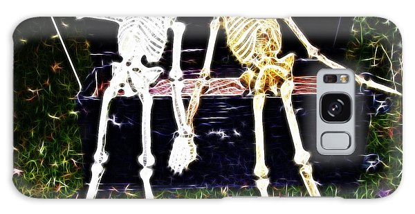 Halloween Skeleton Couple Galaxy Case by Darleen Stry