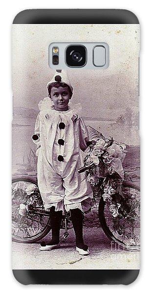 Halloween Pierrot Boy With Antique Bicycle Circa 1890 Galaxy Case by Peter Gumaer Ogden
