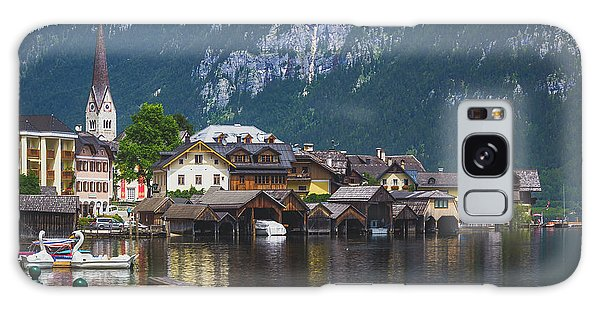 Hallstatt Lakeside Village In Austria Galaxy Case
