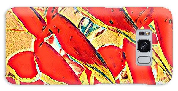 Halyconia Closeup In Orange Galaxy Case