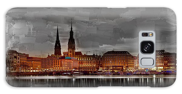 Hamburg Germany Skyline 01 Galaxy Case
