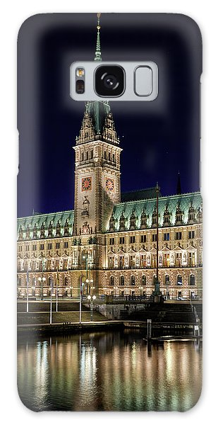 Hamburg Town Hall At Night Galaxy Case
