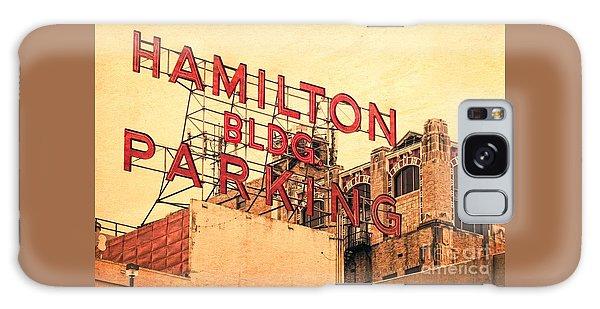 Hamilton Bldg Parking Sign Galaxy Case