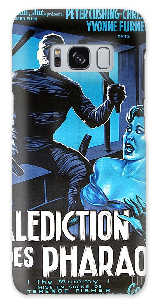 Hammer Movie Poster The Mummy La Malediction Des Pharaons Galaxy Case