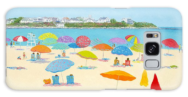 Hampton Beach Umbrellas Galaxy Case