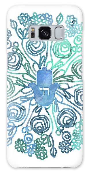 Hamsa Mandala 1- Art By Linda Woods Galaxy Case by Linda Woods