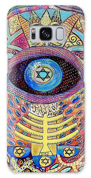-hamsa Menorah Tree Of Life - Bright Lights  Galaxy Case by Sandra Silberzweig