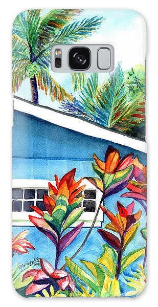 Hanalei Cottage Galaxy Case by Marionette Taboniar