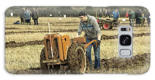 Hand Held Tractor Plough Galaxy Case by Roy McPeak
