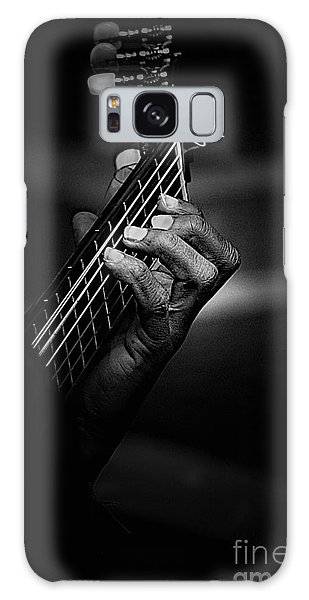 Guitar Galaxy Case - Hand Of A Guitarist In Monochrome by Sheila Smart Fine Art Photography