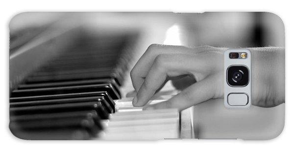Hand On Piano Keyboard Galaxy Case