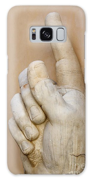 Stone Galaxy Case - Hand With Pointing Index Finger. Statue Of Constantine. Palazzo Dei Conservatori. Capitoline Museums by Bernard Jaubert