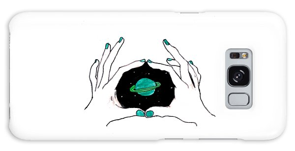 Hands Around Saturn Galaxy Case