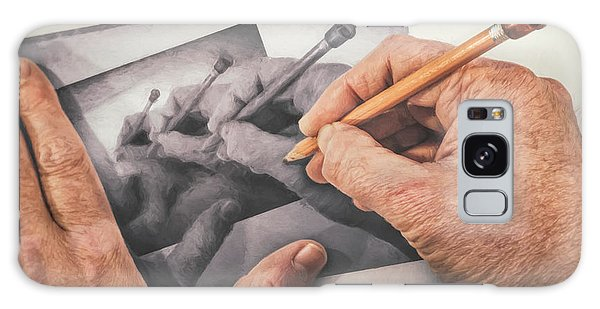 Repeat Galaxy Case - Hands Drawing Hands by Scott Norris
