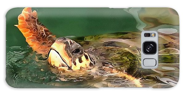 Hands Up For A Plastic Free Ocean Loggerhead Turtle Galaxy Case