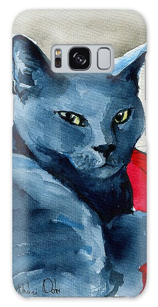 Handsome Russian Blue Cat Galaxy Case