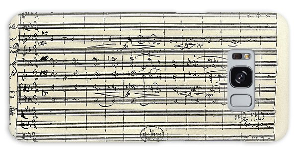 Schubert Galaxy Case - Handwritten Manuscript Score For Kyrie For The Mass In A Flat And E Flat Major by Franz Schubert