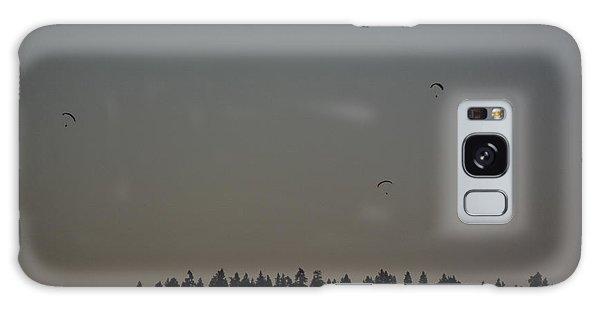 Hang Gliding At Dusk Galaxy Case