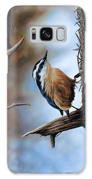 Hangin Out - Nuthatch Galaxy Case