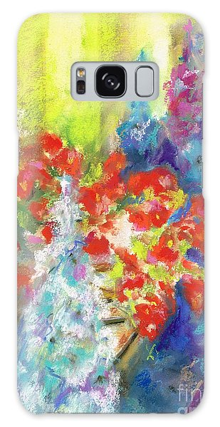 Hanging With The Delphiniums  Galaxy Case by Frances Marino