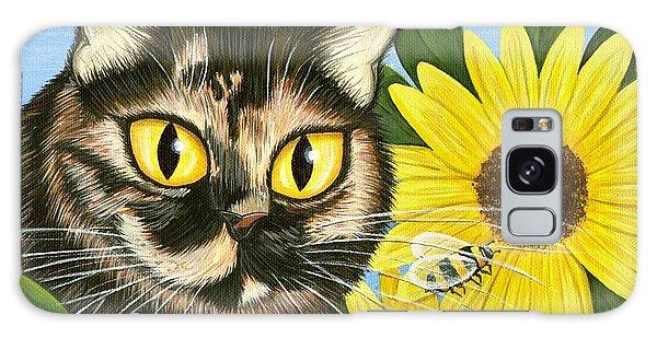 Hannah Tortoiseshell Cat Sunflowers Galaxy Case