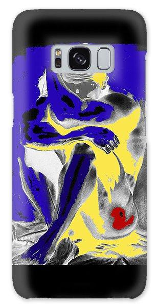 Original Contemporary Painting A Handsome Nude Man Galaxy Case