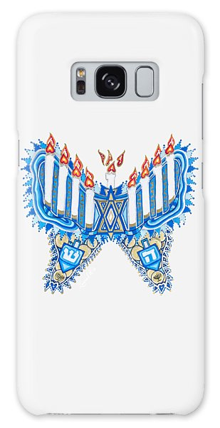 Hanukkah Butterfly Galaxy Case